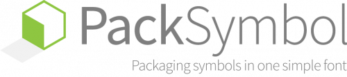 PackSymbol Packaging Symbols Font